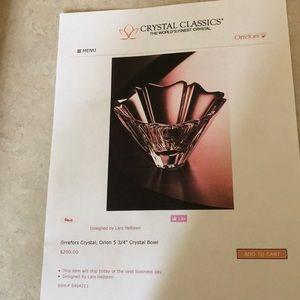 Orrefors Orion Swedish art glass